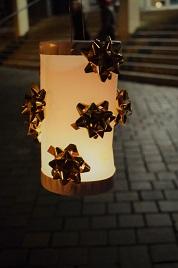 Eine der selbst gebastelten Laternen Foto: A. Eger