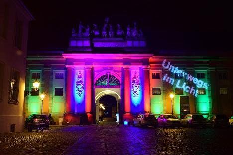 Auch der Kutschstall in Potsdam trug ein Lichterkleid. Foto: A. Eger