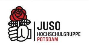 Eine Fragerunde mit O.Scholz und O.Günther, organisiert von der Juso HSG Potsdam (Grafik: juso.hsg.potsdam Instagram)