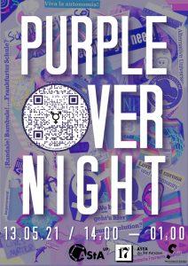 Purple Over Night Flyer